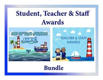 Student End of the Year Awards: Sailing theme These 70 fun awards could be used to reward your students for their hardwork, efforts and character traits. Blank templates are also provided if you want to make your own award. The awards come with a boy and girl version.