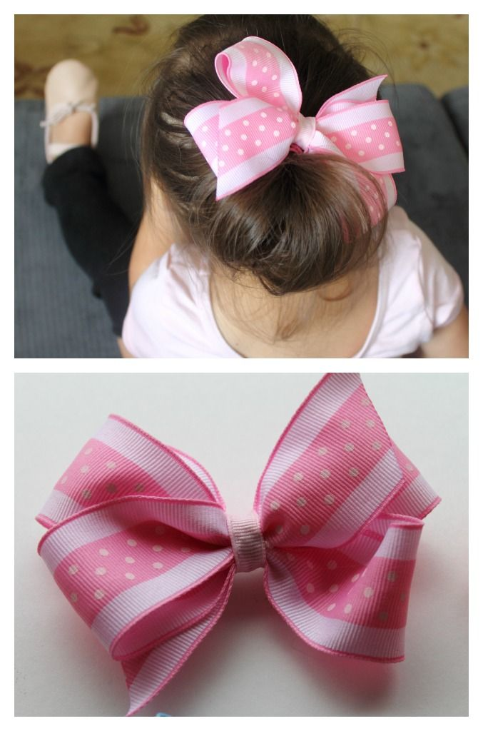 how to make barrettes with ribbon bows