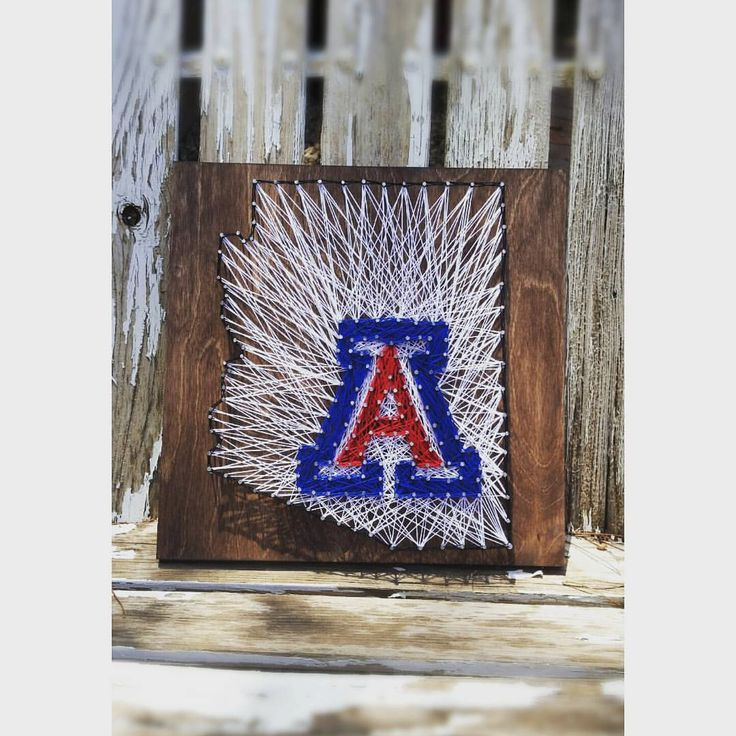 University of AZ State String Art by StringsByJen on Etsy