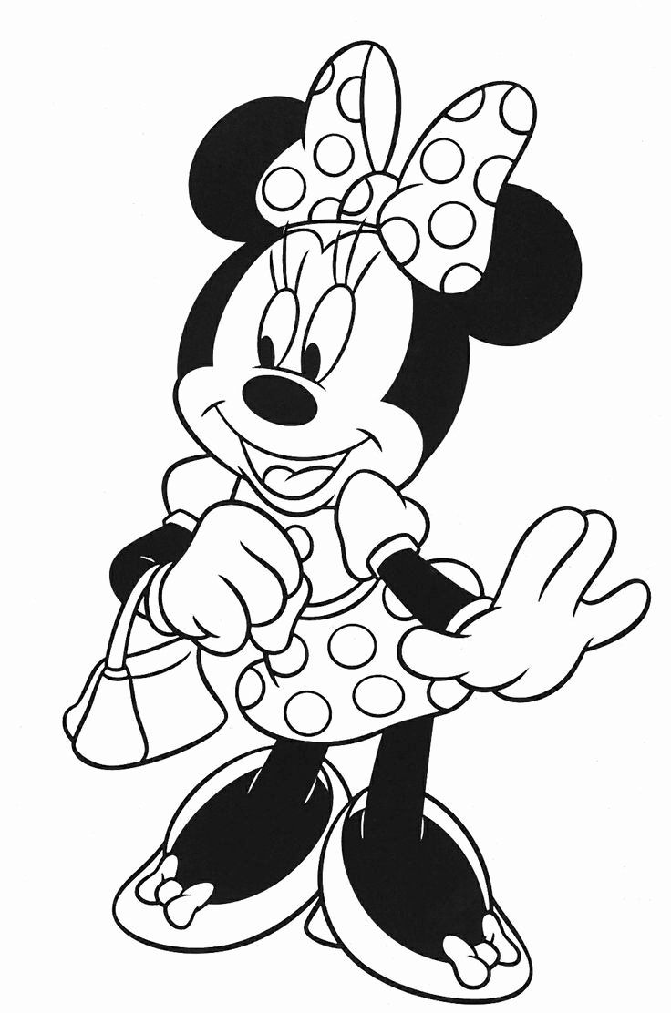Minnie Mouse Coloring Mickey Mouse Coloring Pages Minnie Mouse Coloring Pages Disney Coloring Pages