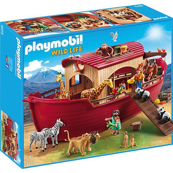 <p>Die PLAYMOBIL Arche Noah (Playmobil-Nr. 9373) begeistert groß und klein.</p><br /> <br /> <p>Bald kommt eine große Flut. Noah soll sich darauf vorbereiten indem er eine riesige Arche baut. Mit dieser soll er ganz viele Tiere und seine Familie vor dem Ertrinken retten. Spiele die spannende Geschichte aus der Bibel mit diesem Spielset nach.</p><br /> <br /> <p>Details:</p><br /> <br &...