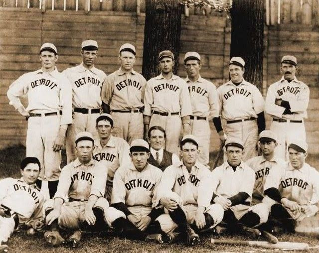The 1900 Detroit Tigers pose for a photo at Bennett Park. This is the last minor league team to play at The Corner. In 1901 the Western League became the American League and declared itself a Major League competitor to the long-established National League.
