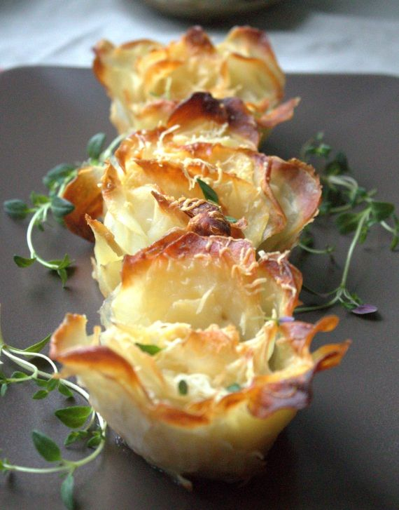 Rosemary Potato Parmesan Rosettes...perfect for buffet......