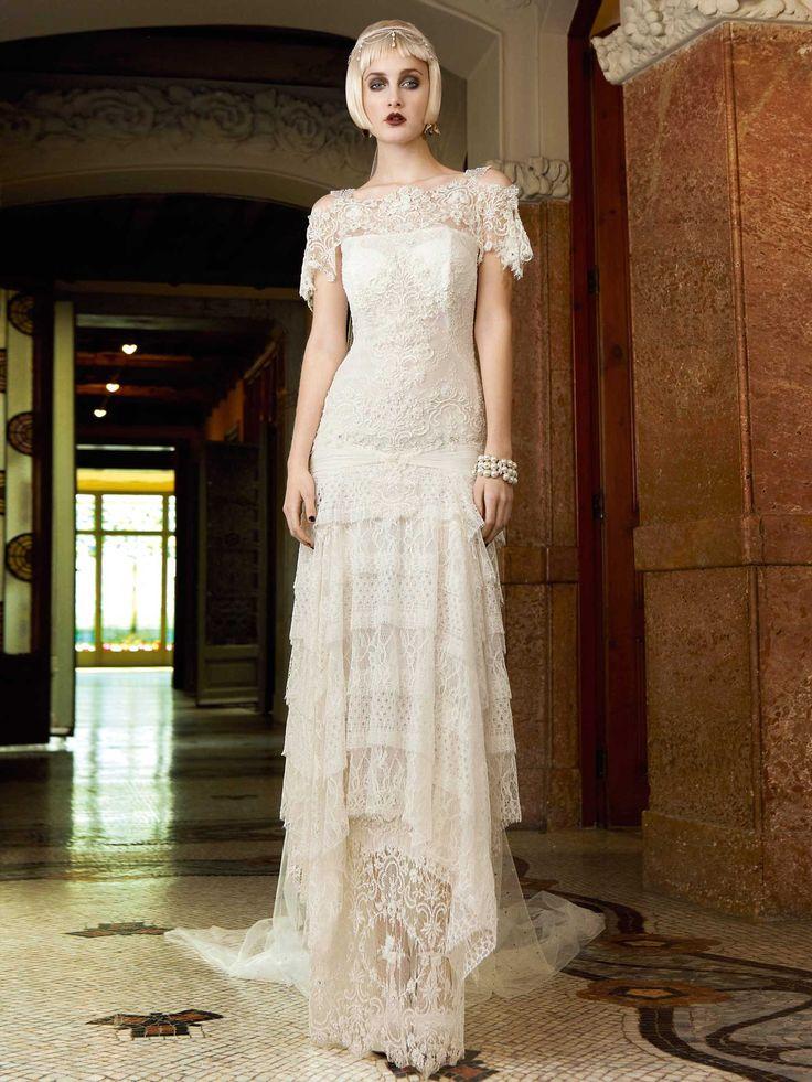 121 best Art Nouveau Wedding Gown images on Pinterest
