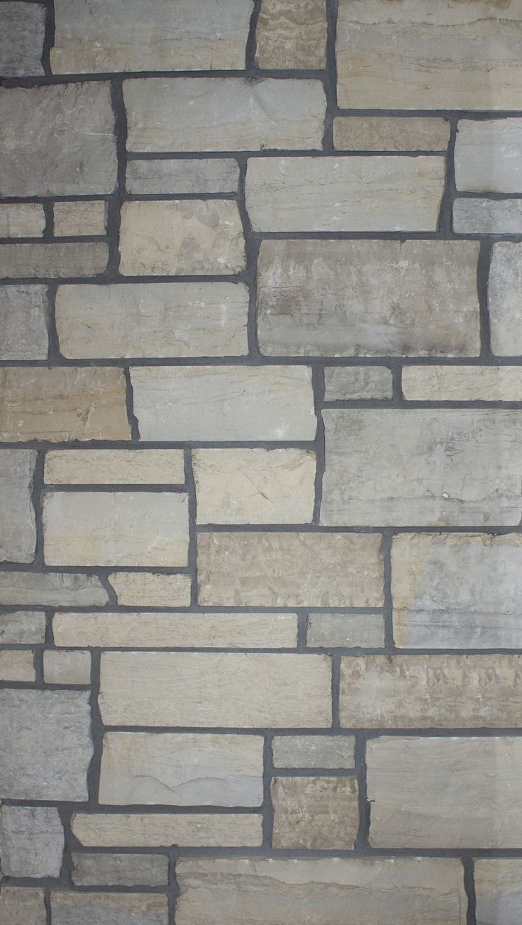 Harbour Blend Tumbled Ashlar Building Stone by Semco Stone – A beautiful blend of light blue, gray and cream colored stone