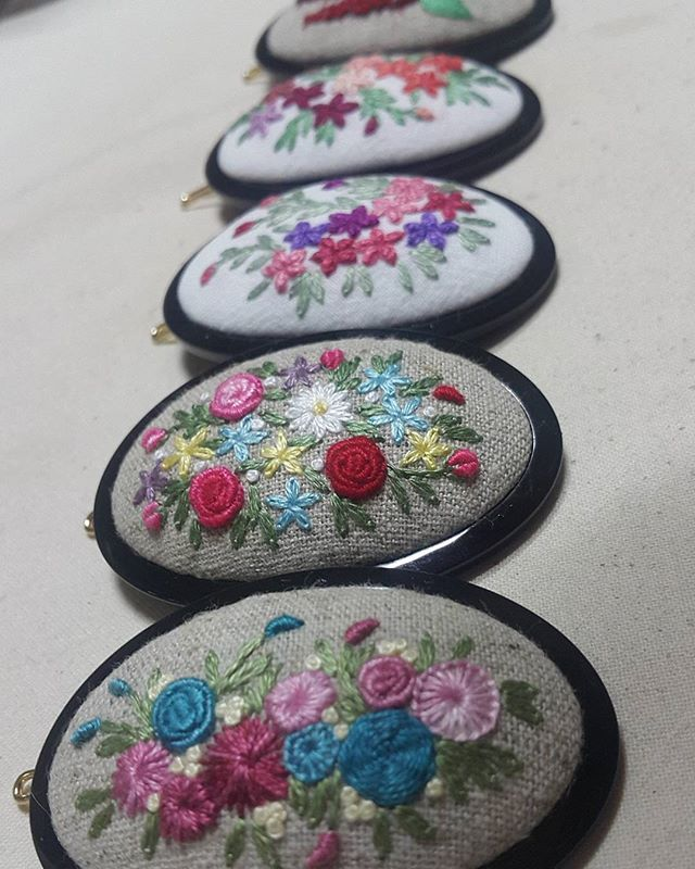 #한울규방 #생활자수  #규방공예  #조각보  #부산자수 #handmade  #embroidery #자수타그램 #자수머리핀