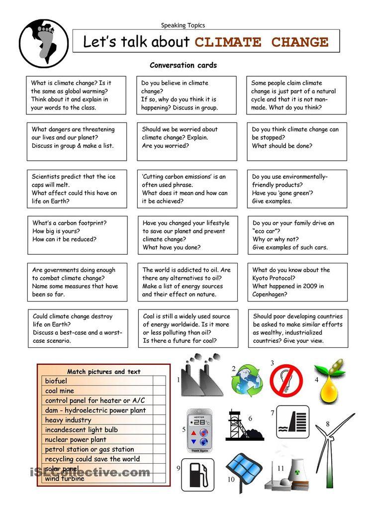Acumen Let39s Talk About Climate Change Worksheet Free Esl