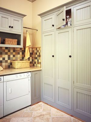 Lively laundry rooms - Lively laundry rooms- I love the cabinet colors