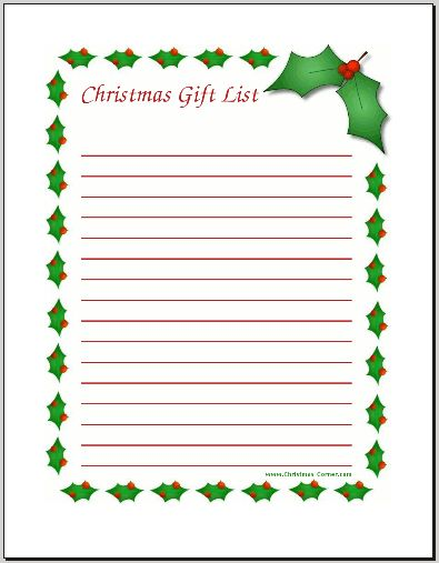 The  Best Christmas Wish List Template Ideas On