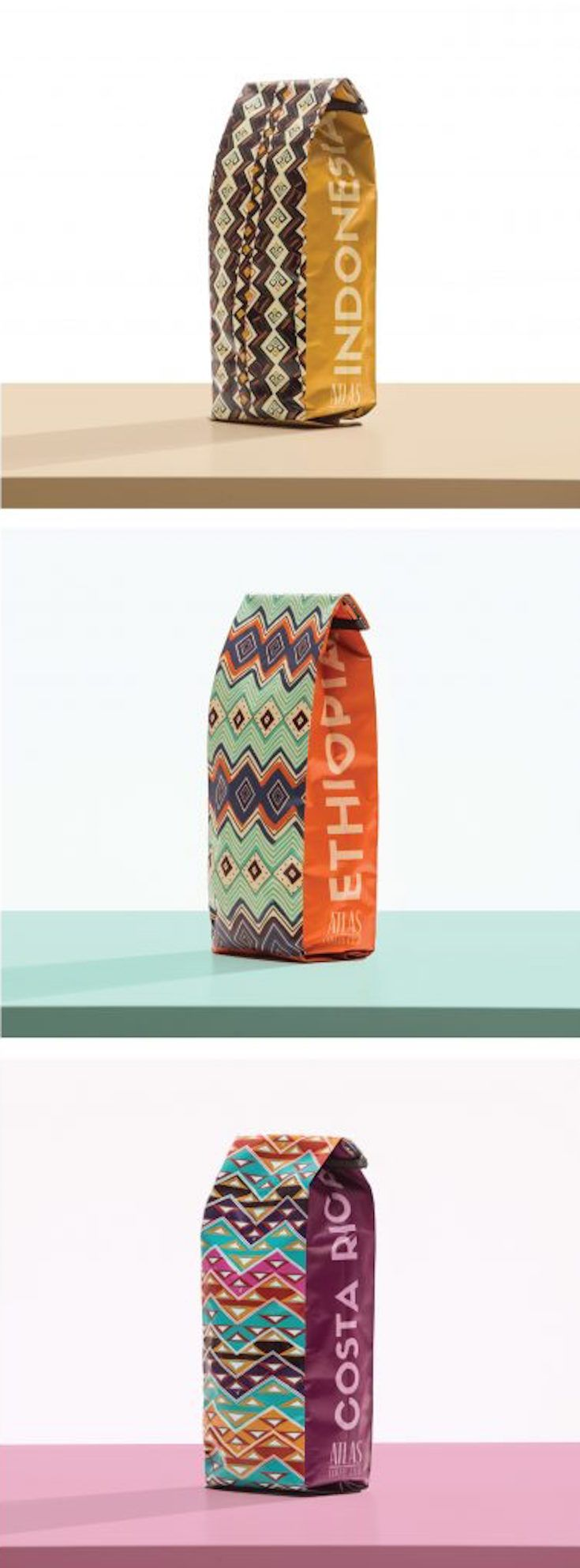 Atlas Coffee Club coffee packaging design