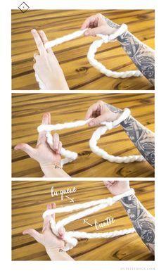 1 hour giant blanket arm knitting tutorial dupetitdoux.com craft crafting artisanat tricoter avec les bras couverture géante
