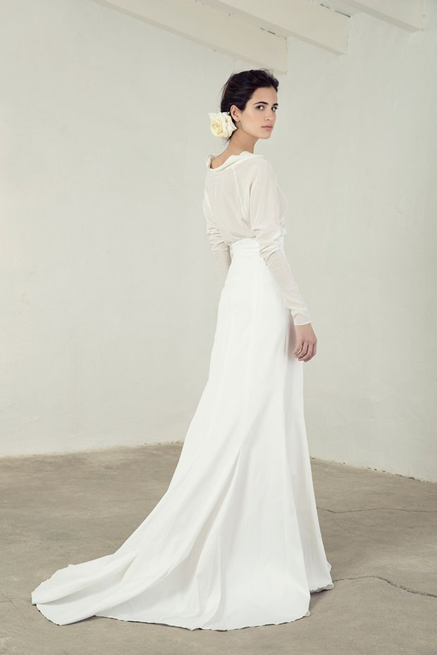 Paula Top with Rice Skirt from Cortana wedding dresses Bridal Collection - Silk…