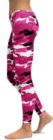 Pink Camo Leggings - GearBunch Leggings / Yoga Pants