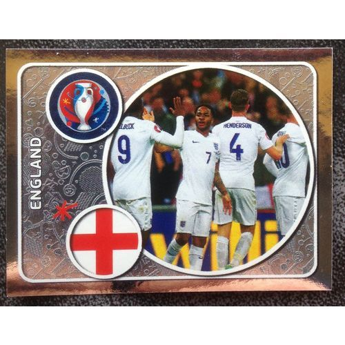 Football Soccer Sticker Panini UEFA Euro 2016 #121 England code