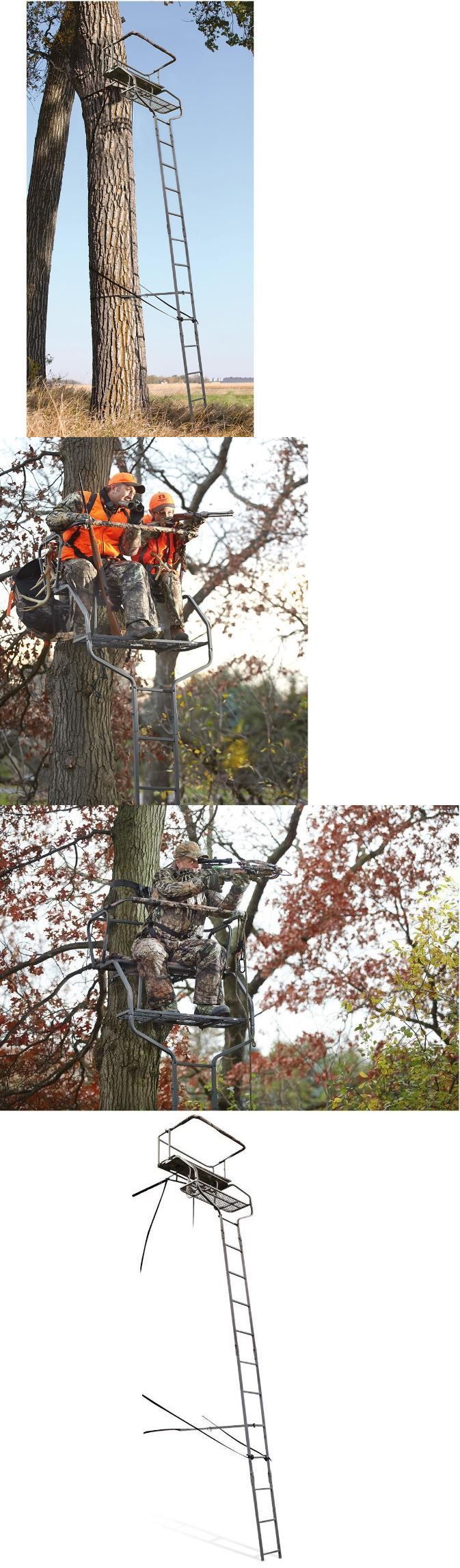 Tree Stands 52508: Tree Stand Ladder Hunting 18 Feet 2 Man Foot Rest Shooting Outdoors Archery New BUY IT NOW ONLY: $152.59