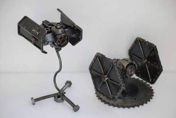 Tie Fighter 1 & 2 star war Scrap Metal by Metalmodelhouse on Etsy