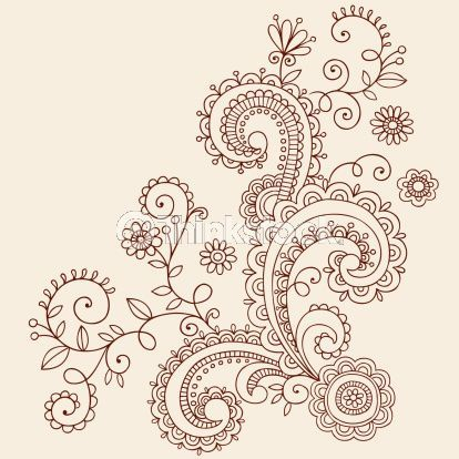 paisley tatt idea, would also make a nice t-shirt design with a bleach pen.