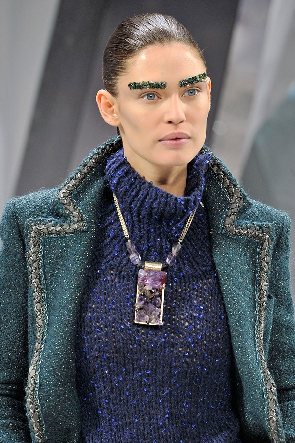 bedazzled brows at chanel fw12. hmmm...