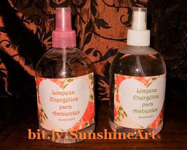 SunshineArt: Sprays de Limpeza Energética de Ambientes