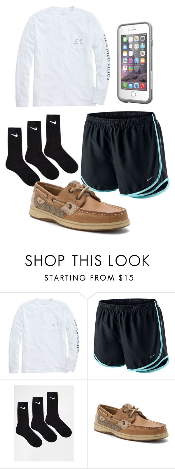 """""""Lazy day"""" by tifanisolano on Polyvore featuring Vineyard Vines, NIKE, Sperry Top-Sider and LifeProof"""