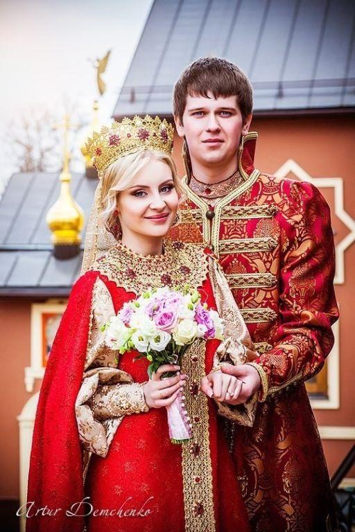 Потрясающей красоты русская свадьба.