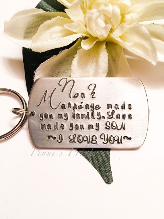 Hand stamped personalized dog tag for step child, blended family, step daughter, stepson, step parent, adoption
