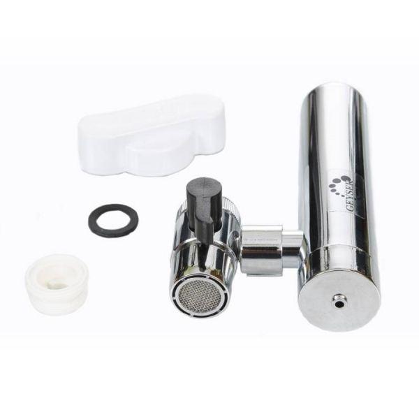 GEYSER EURO csapra szerelhető vízszűrő | A GEYSER vízszűrő nem csak egy egyszerű víztisztító berendezés, hanem egy olyan készülék, amely a csapvízből alkalikus vizet állít elő minimális költség mellett.