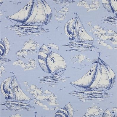 Spinnaker Fabric - Jane Churchill wallpaper and fabrics available from Sue Foster Interiors, Emsworth www.suefoster.co.uk