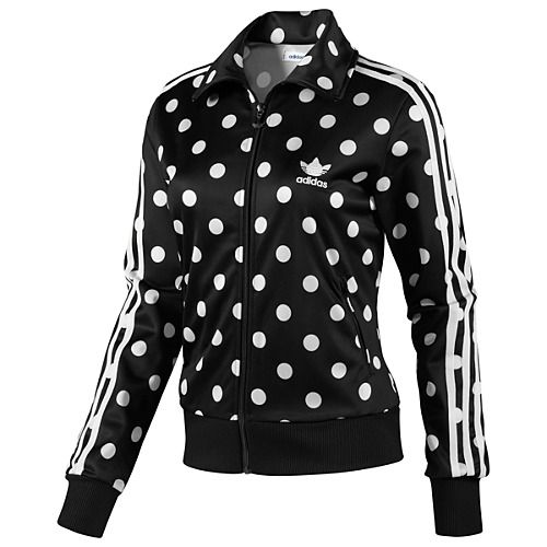 women 39 s adidas originals firebird polka dot addidas jacket. Black Bedroom Furniture Sets. Home Design Ideas