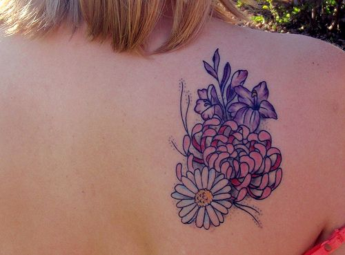 17 best ideas about birth flower tattoos on pinterest aster flower tattoos birth flowers and. Black Bedroom Furniture Sets. Home Design Ideas