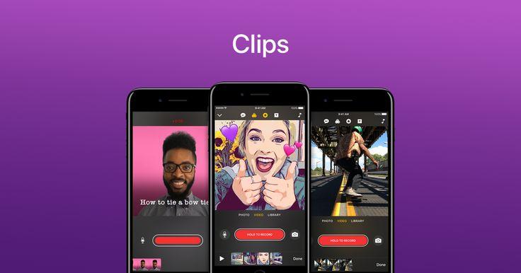 Clips er en funktionel app, og den er gratis. Mede den kan du hurtigt og nemt kan lave små videoer. Du kan lægge musik, undertekster, effekter på din video direkte i appen; og videoen kan gemmes ned på dit device.