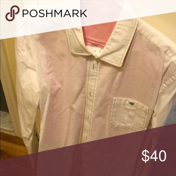 Boss Orange white button down size L Worn twice at most, purchased at Hugo Boss retail store at Fashion Show mall Las Vegas. White size L BOSS ORANGE Shirts Casual Button Down Shirts