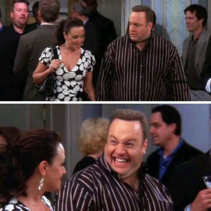 """Carrie: """"For the next twenty minutes can you just pretend you're happily married?"""" Doug: """"Ok, how's this?"""" King of Queens"""