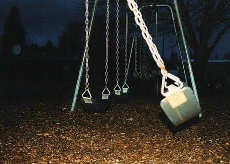 """""""Did that swing just start moving?"""" Fin hissed to Kiesyn, turning to him, but he had disappeared. """"Ok, I'm getting out of here. This of how people always die in horror movies."""""""
