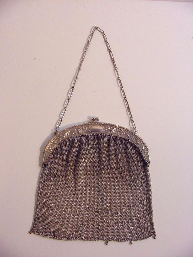 antique silver mesh purse, Germany