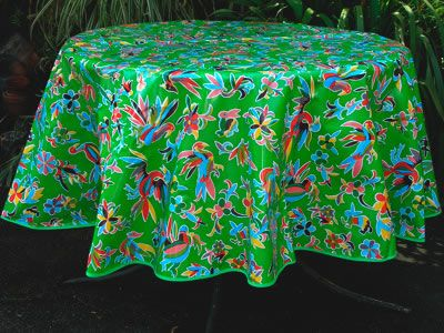 Oilcloth Tablecloths ~ High Quality Mexican Oilcloth Tablecloths |  Exclusive Designs | Large Selection
