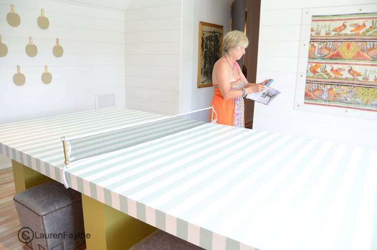 Striped Ping Pong table for the game room!!: Game Rooms, Ping Pong Table, Striped Ping, Beach Houses