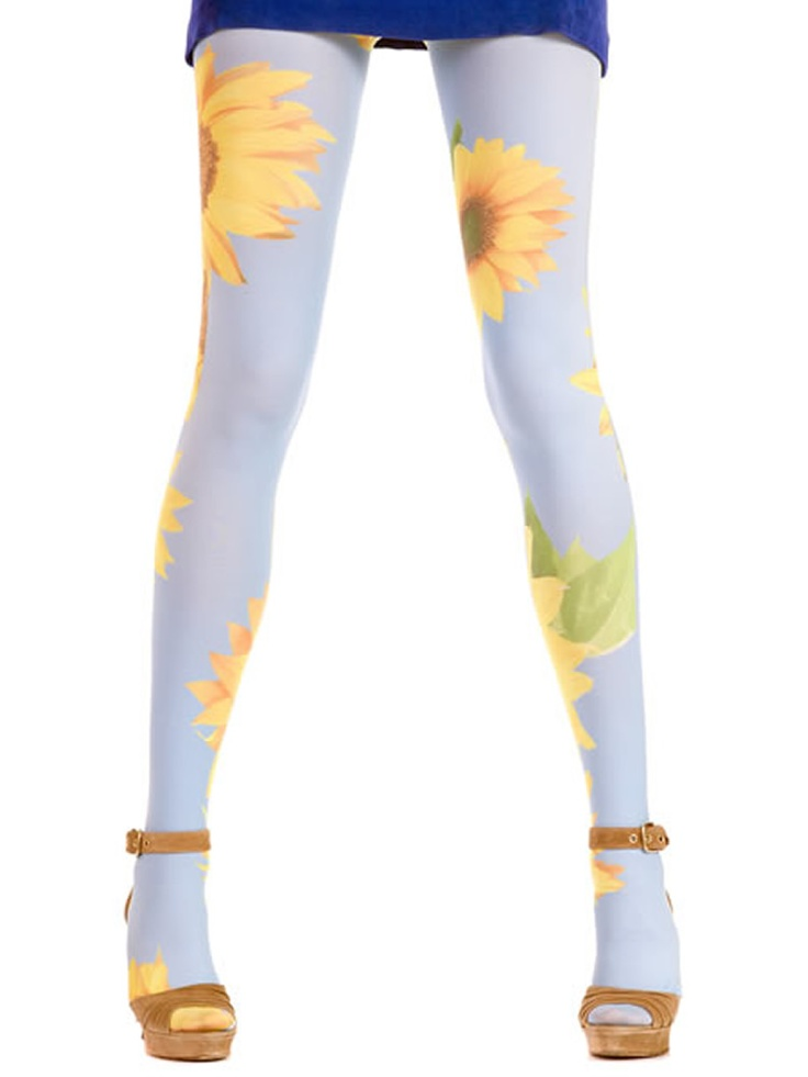 Printed tights Big Sunflower Hotlook