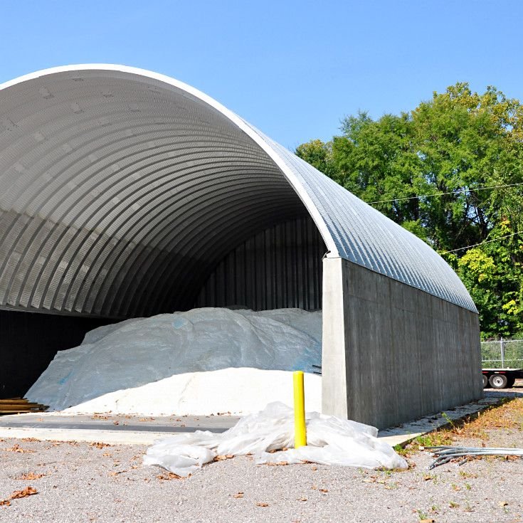 Large salt storage building with an open front and covered rear wall & 22 best MetKor - Fabric Covered Building Clients images on Pinterest ...