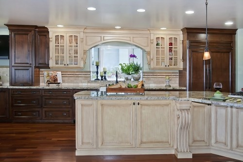 What about angling peninsula back to allow for more room between great room and kitchen. Hummmmm Tuscany style Kitchen/Great room - mediterranean - kitchen - san diego - Gourmet Galleys & Loos | Kitchen and Bath Design