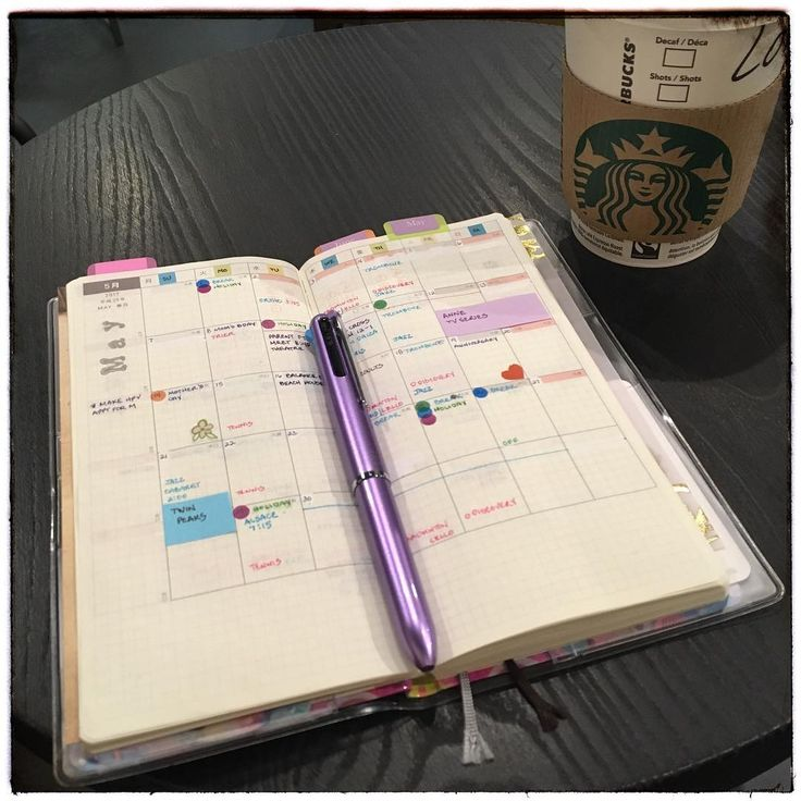 """203 Gostos, 3 Comentários - PlannerLifeAbroad (@plannerlifeabroad) no Instagram: """"Coffee and prepping for May. ☕️📝#hobonichiweeks #hobonichi #planner #plannercommunity #plannerlife…"""""""