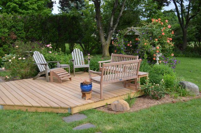 Detached Deck Small Backyard Landscaping Backyard Patio