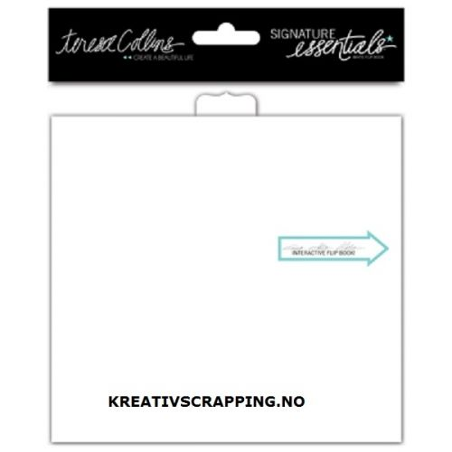 """SIGNATURE ESSENTIALS SE1004 - FLIP BOOK 5.9""""X5.5"""" - WHITE READY-FOR-ART - Teresa Collins-Signature Essentials Flip Book: White. A great canvas for all your projects ideas! Add your own photos to create a project that is uniquely you. This package contains one 4x5-1/2 inch flip book. Acid and lignin free."""
