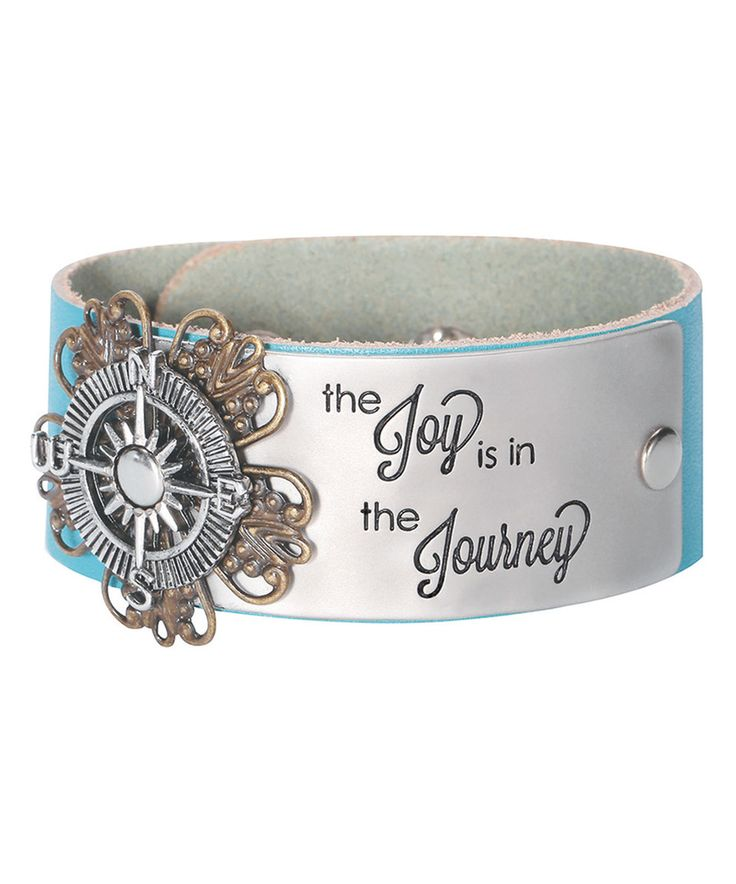 Look what I found on #zulily! Teal 'Journey' Leather Bracelet by Alexa's Angels #zulilyfinds