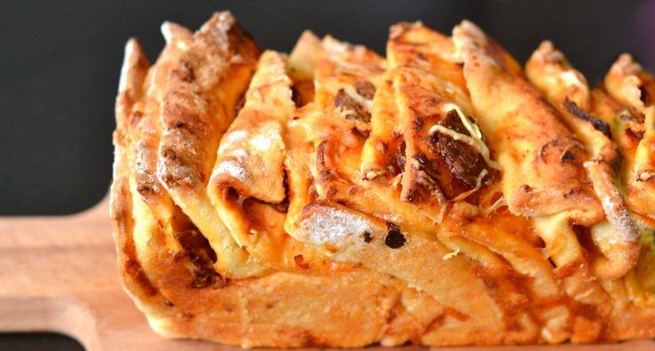 Rakott pizza kenyér recept   APRÓSÉF.HU - receptek képekkel