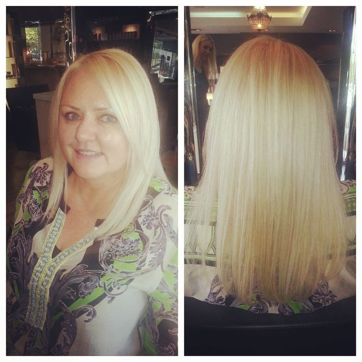 Stunning blonde colour melt with a cut and style done by chantal