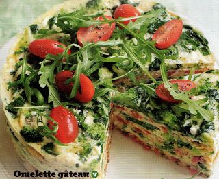 Omelette Gateaux - 2x Slimming World recipes, photos and sizes. Really lovely vegetarian omelette cake - ideal for picnics, summer lunches or just for snacking!