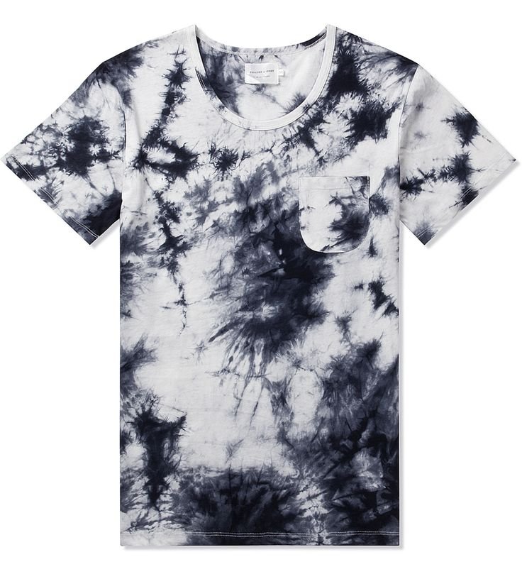 Shades of Grey by Micah Cohen White/Black Tie-Dye S/S Pocket Tee