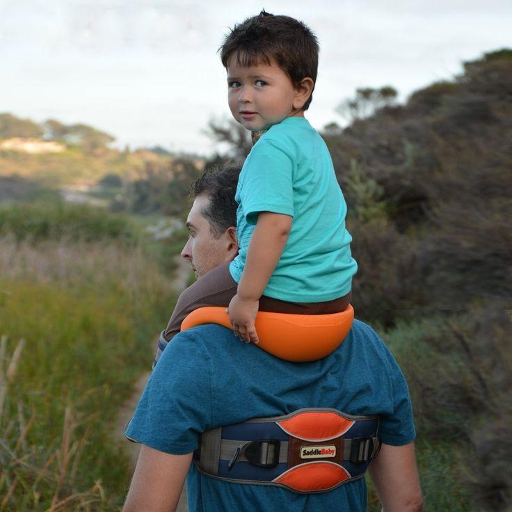 SaddleBaby Allows For Hands-Free Shoulder Rides  ... see more at InventorSpot.com