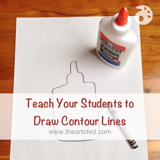 Teaching contour line is a simple way to hone students' observational drawing skills, preparing...